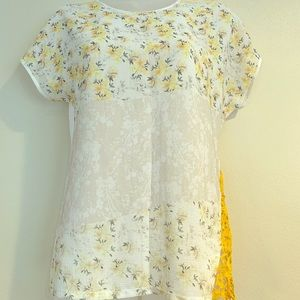 Zara Floral and Lace Top